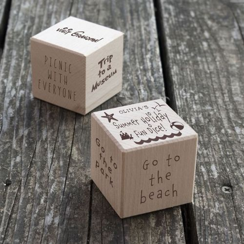 Personalised Wooden Summer Holiday Fun Dice